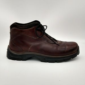 Teva Leather Ankle Boots Brown Lace Up